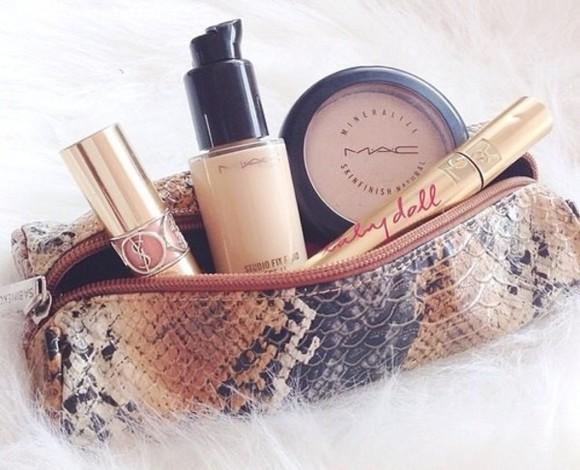 snake bag case makeup bag