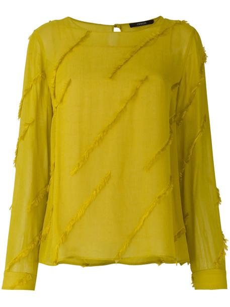 Odeeh blouse women yellow orange top