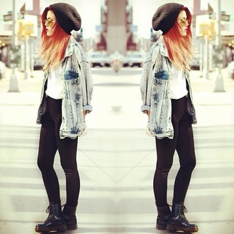 jacket denim acid wash oversized