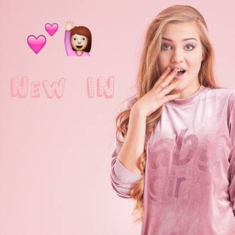 girly baby pink yeah bunny sweashirt