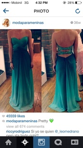 dress,maxi dress,green,sequins,draped,ombre,blue prom dress