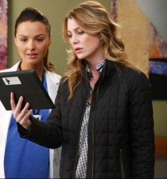 jacket black jacket grey's anatomy quilted meredith grey ellen pompeo black full zip