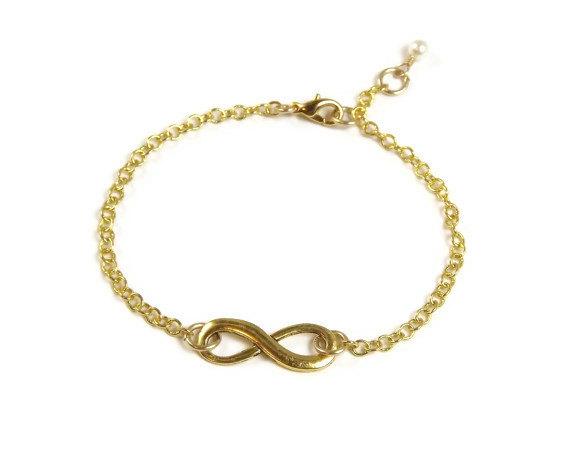 Gold infinity bracelet by stephiemc on etsy