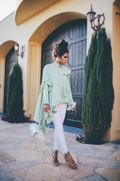 top,mint top,white jeans,backpack,mint,jeans,skinny jeans,date outfit,sandals,sandal heels