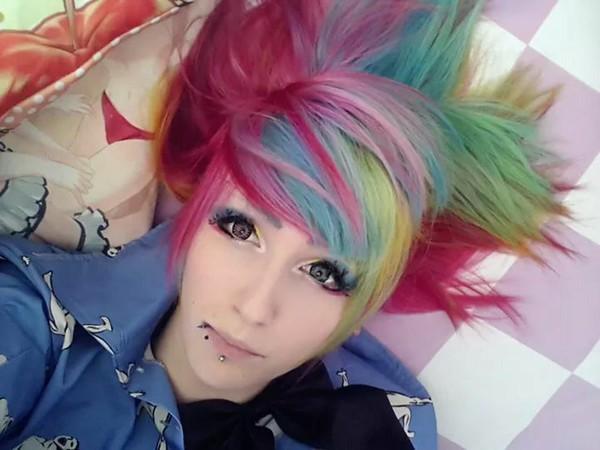 make-up eye makeup black eyeshadow black party rainbow eye multicolor