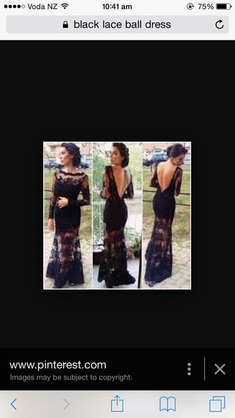 dress black lace dress