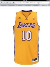 t-shirt,lakers,vintage,jersey,basketball,los angeles,yellow,purple
