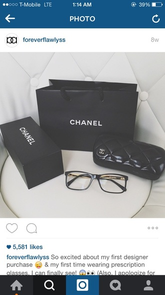 sunglasses @chanel glasses @chanelglasses home accessory alyssa forever chanel glasses