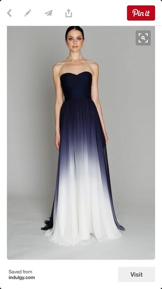 dress ombre long dress wedding dress bridesmaidsdress