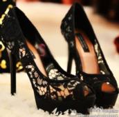 shoes,lace,high heels,black high heels,peep toe,classy,fancy