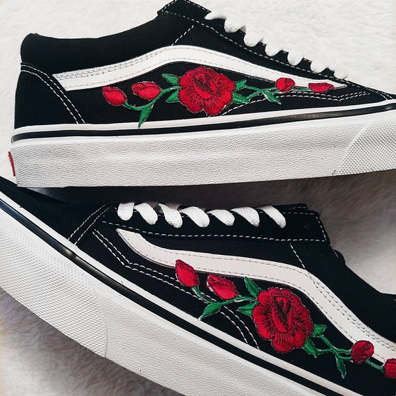 vans old skool brodée