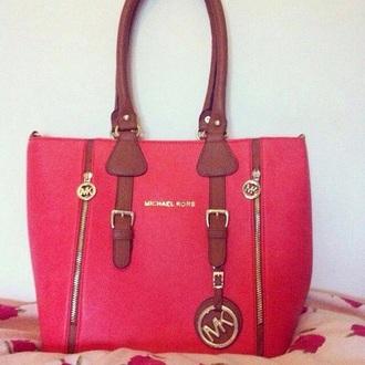 bag michael kors bags pink bag leather bag