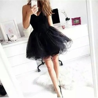 dress black dress prom dress homecoming dress beautiful dress ball dress ball gown dress pretty dress black heels all black everything