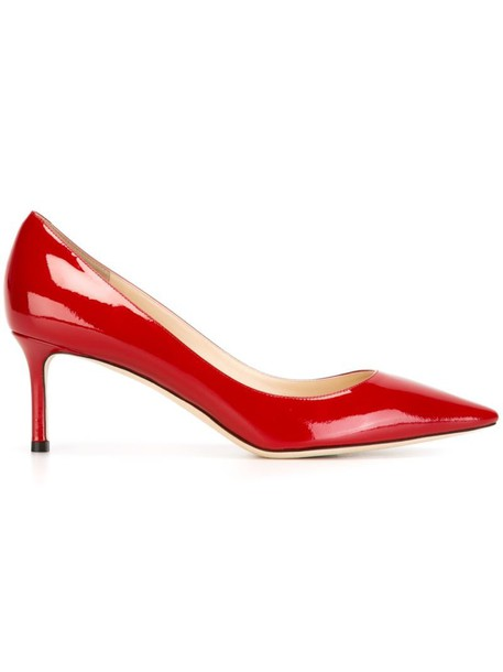 Jimmy Choo women pumps leather red shoes