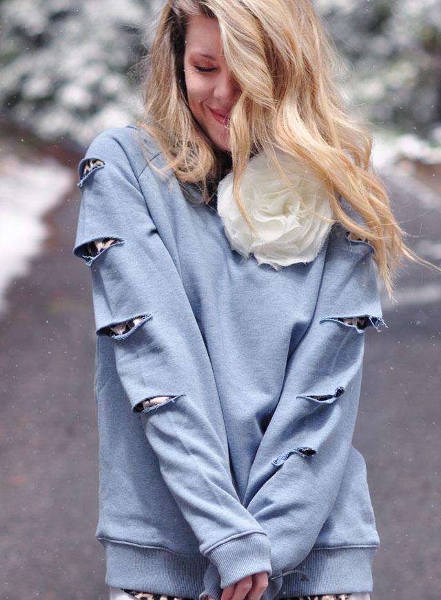 DIY Slashed Sleeved Sweatshirt   Cute & Simple!   ...love Maegan