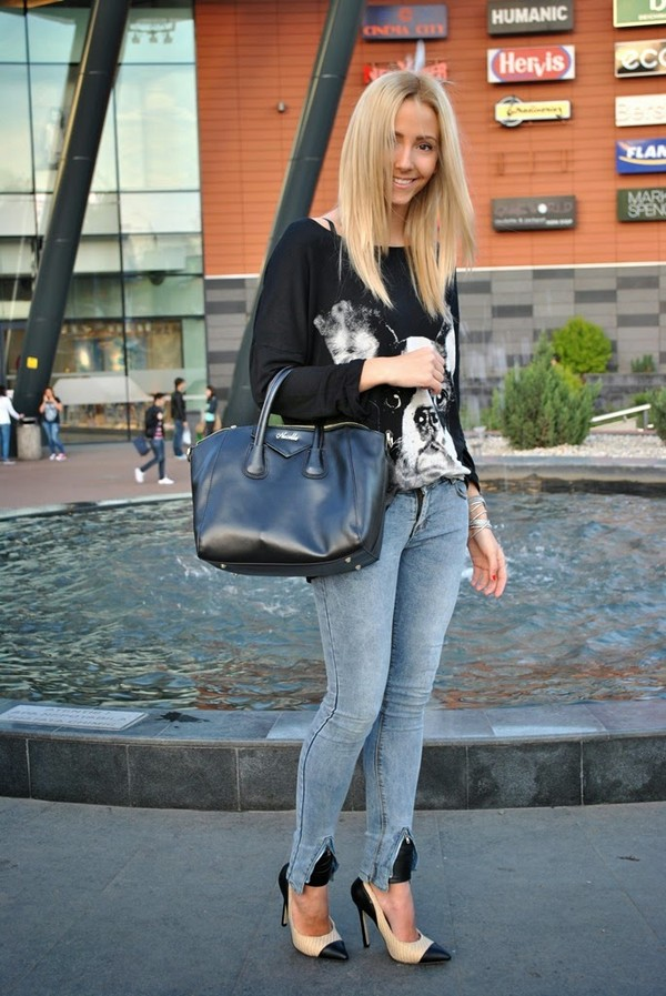 let's talk about fashion ! blouse jeans shoes bag jewels