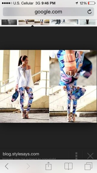 shirt leggings white blouse outfit watercolors abstract color