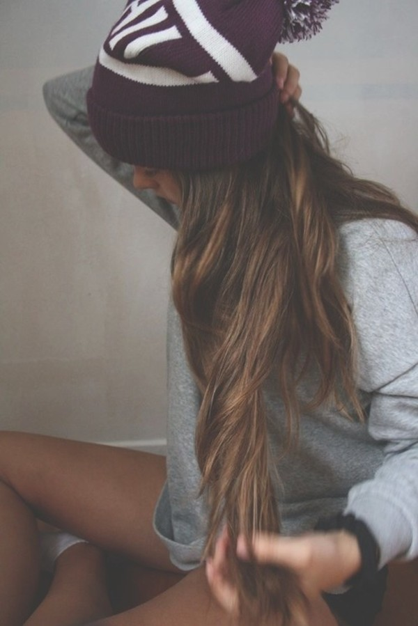 hat beanie hipster skateboard skater tumblr purple sweater