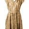 Vivienne westwood - belted tunic - women - cotton/polyamide - 42, brown, cotton/polyamide