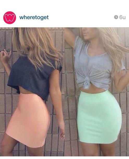 skirt pastel skirt
