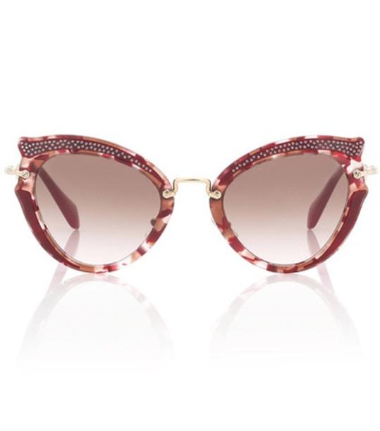 Miu Miu Noir cat-eye sunglasses in red