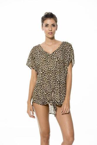dress black brown cover up malai swimwear print bikiniluxe