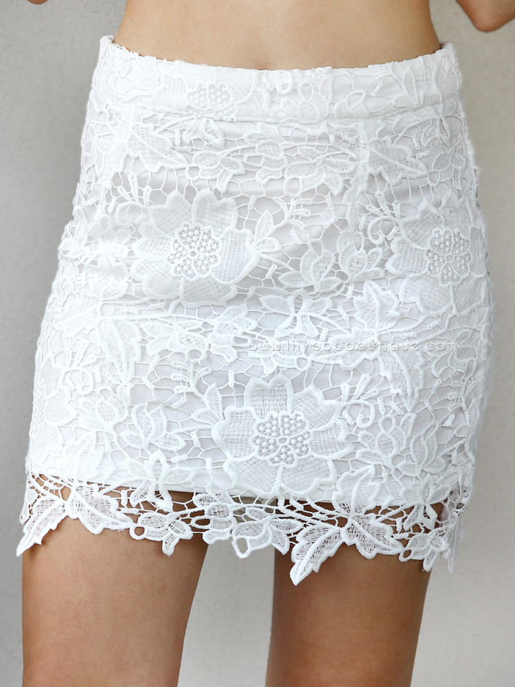 White jasmine crochet lace – lilypop boutique