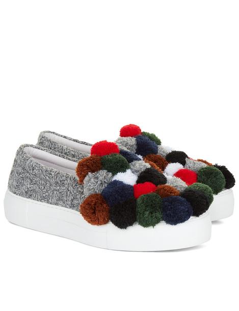 Joshua Sanders knit sneakers grey