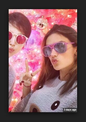 sunglasses alessandra ambrosio pink sunglasses
