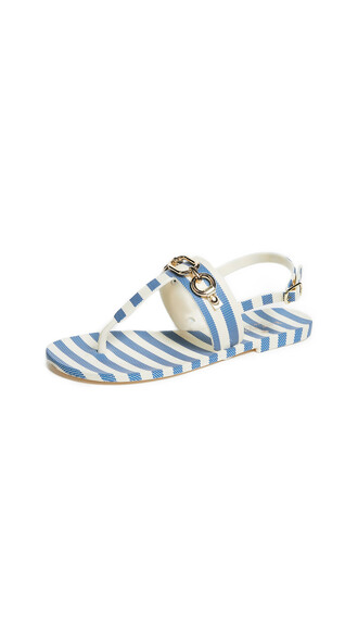 sandals blue cream shoes