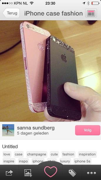 jewels pink iphone case