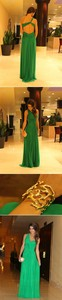 dress emerald green green dress gold bracelet open back open backed dress one shoulder prom dress long prom dresses long dress jewels