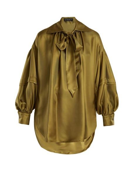 ETRO blouse silk green top
