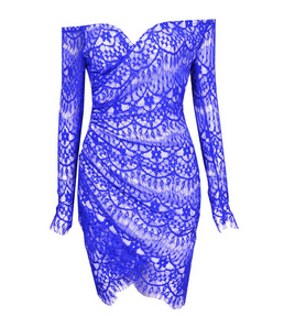 Cross Way Lace V-neck Dress