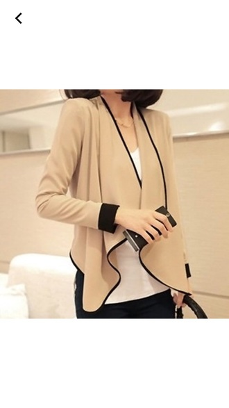 jacket blazer nude blazer nude black black and nude fall outfits fashion