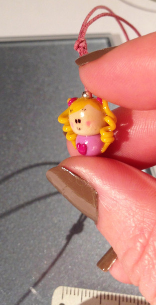 jewels lloom cute little girl pink yellow