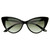 Hot Tip Pointed Vintage Cat Eye Sunglasses 8371                           | zeroUV