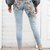 Summer sixteen mid-rise jeans with floral embroidery