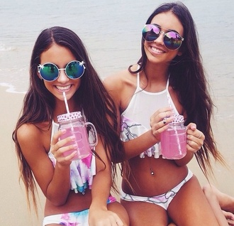 swimwear white swimwear summer hippie boho boho chic vintage grunge home accessory sunglasses
