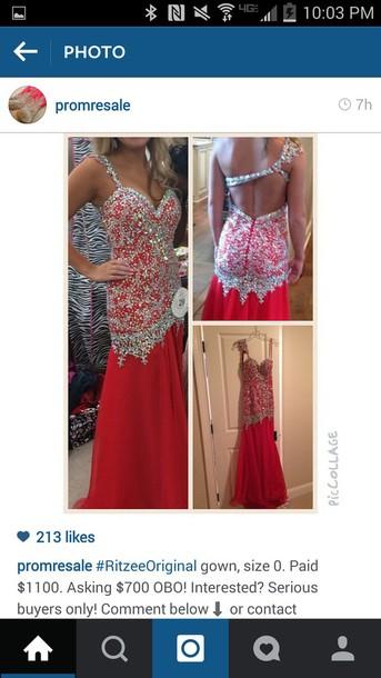 dress red dress long dress long prom dress sparkly dress red long dress formal dress one shoulder