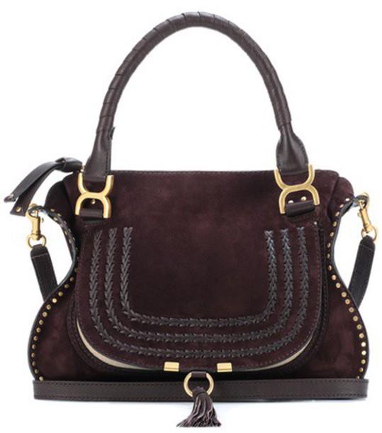 Chloe bag shoulder bag suede brown