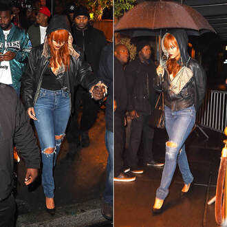jeans top denim rihanna jacket pumps shoes