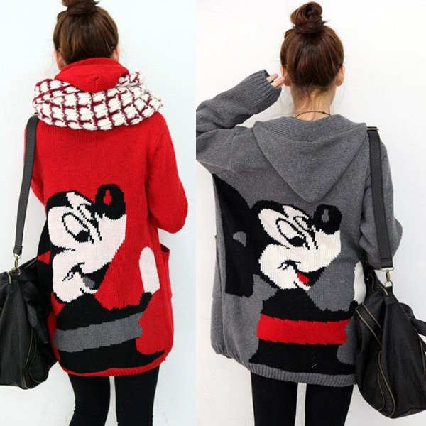 sweater mickey mouse red mickey mouse cute nice