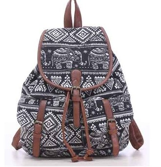 bag girl girly girly wishlist cute tribal pattern black brown white design print back to school backpack