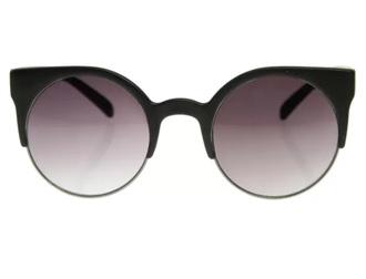 sunglasses retro sunglasses black metal cat eye sunglasses