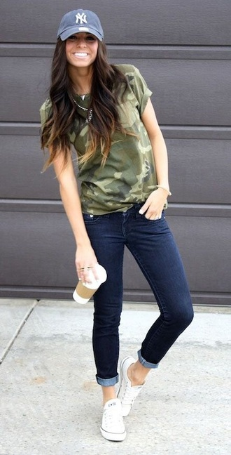 top t-shirt style shirt trendy military style