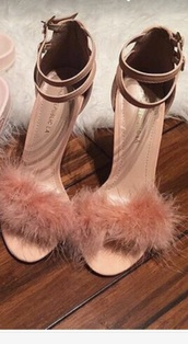 shoes,pink,fluffy,heels,suede,women's heels