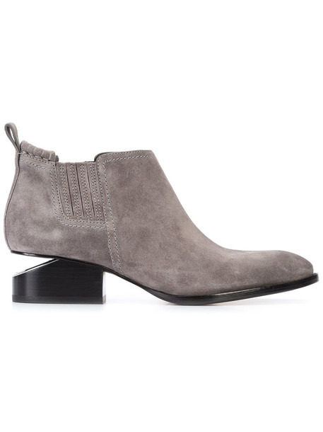 Alexander Wang women ankle boots leather suede grey shoes