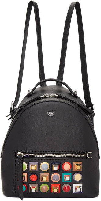 mini rainbow backpack black bag