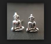 jewels,buddha,silver studs,earings